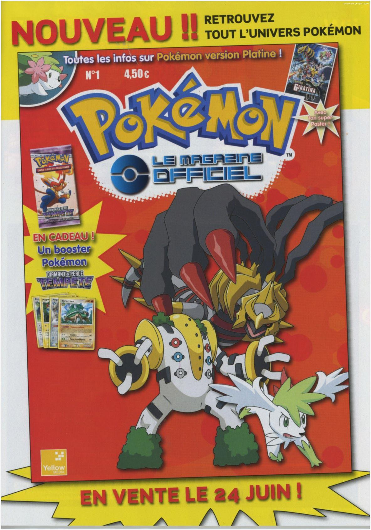 Pok mon le magazine officiel sous le scalpel - Pokemon legendaire platine ...