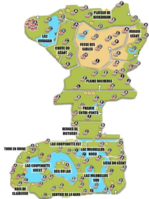 Galar Terres Sauvages Cartes Map