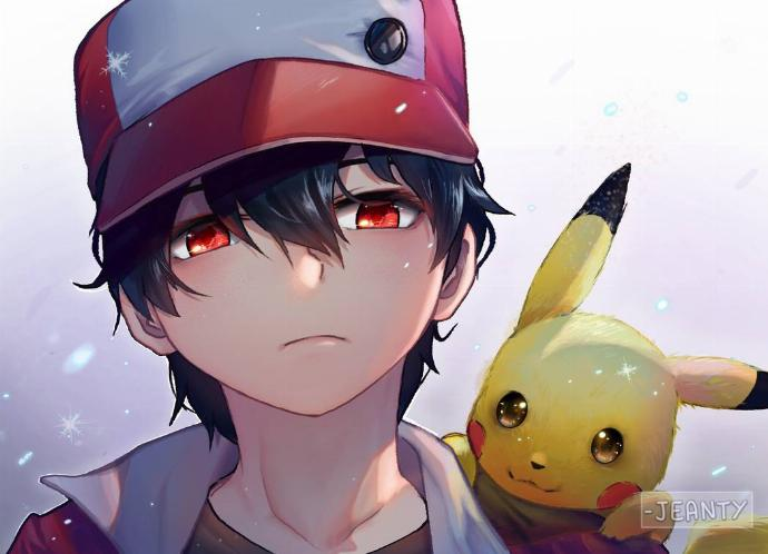 Red Pikachu fanart