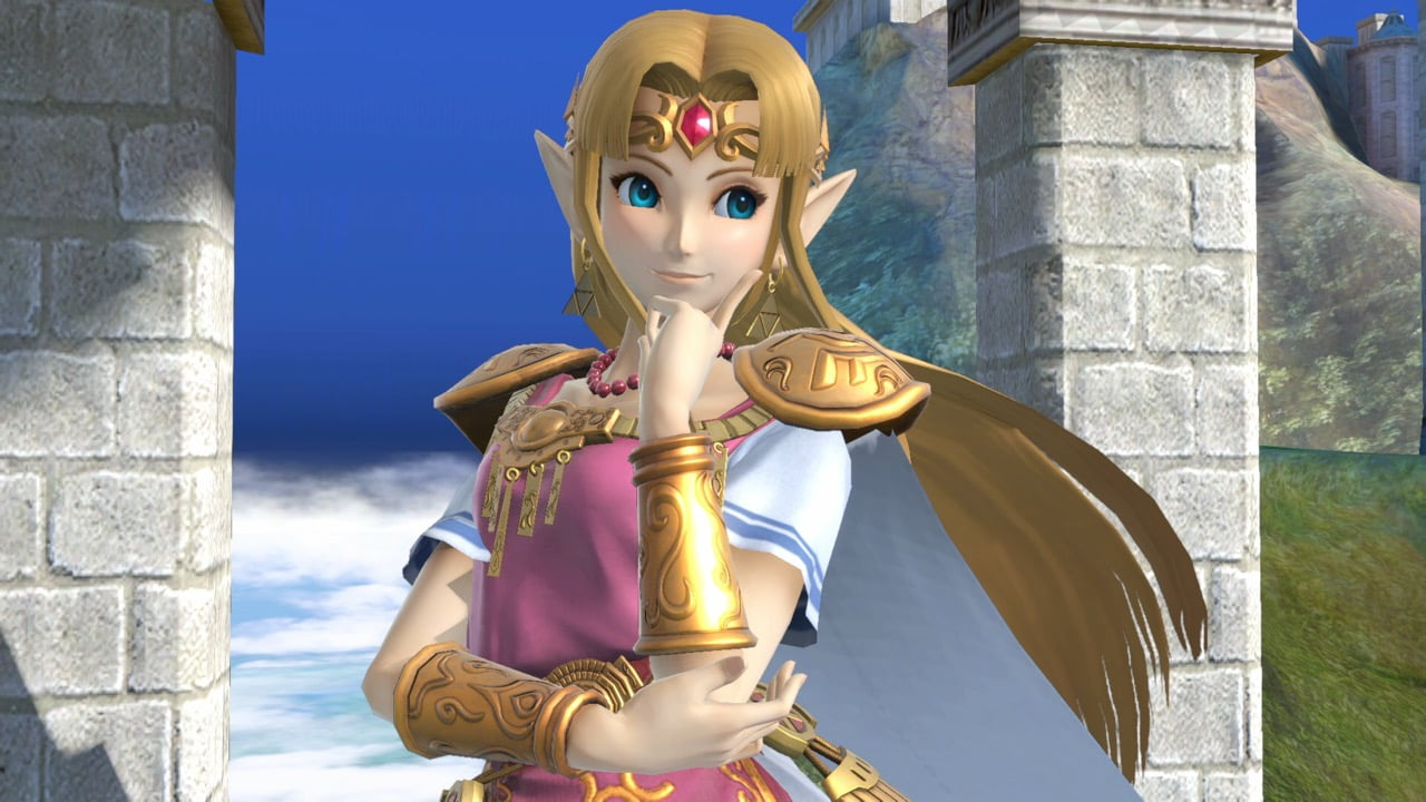 smash bros zelda smile