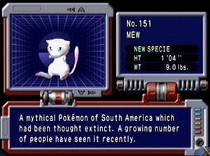 Description de Mew dans le Pokédex
