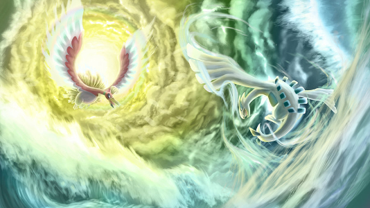 Artwork de Lugia et Ho-oh par I-is-gundam