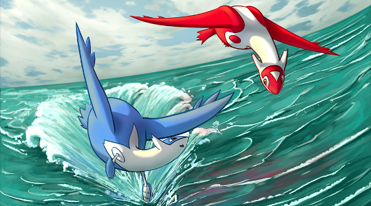 Artwork de Latias et Latios par jkarlin