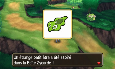 Screenshot d'une Cellule de Zygarde trouvée dans la nature