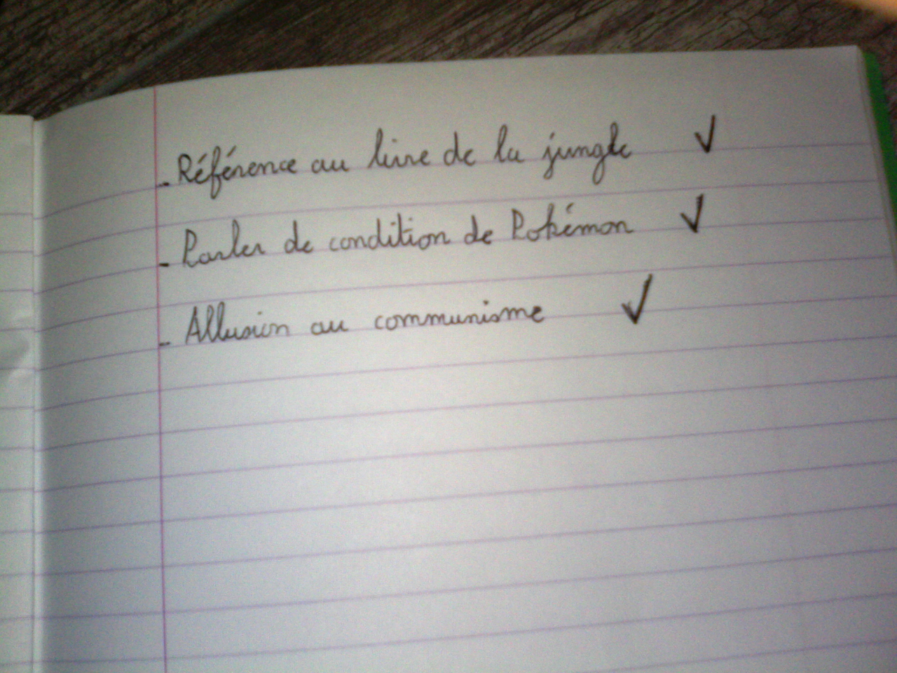 Todolist de l'article par l'auteur dudit article