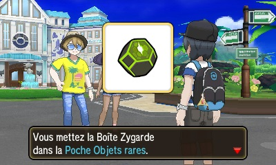 Screenshot de la Boîte Zygarde